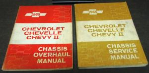 Original 1965 Chevrolet Service Shop Manual Set Chevy II Chevelle Repair