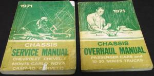 Original 1971 Chevrolet Dealer Service Shop Manual Set Chevelle Camaro Corvette