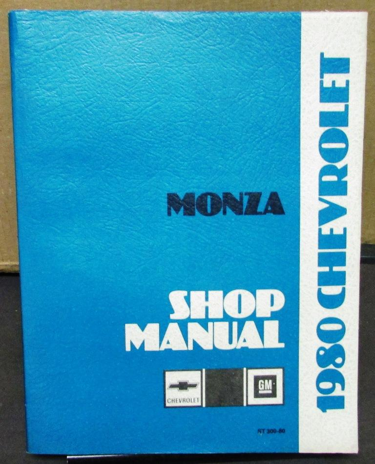 1980 Chevrolet Dealer Service Shop Manual Monza Repair Chevy