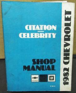 Chevrolet celebrity repair manual