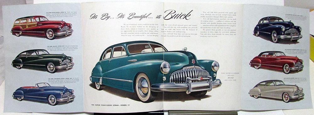 1946 Buick Special 40 Super 50 Roadmaster 70 Color ...
