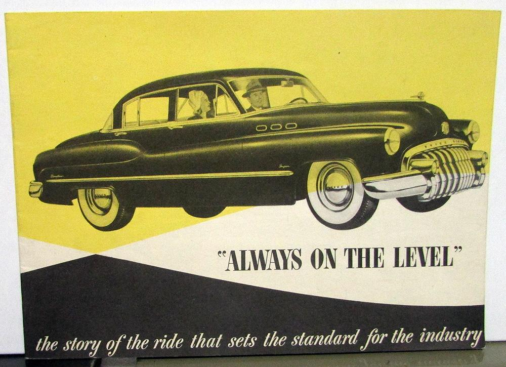 1950 Buick Always on the Level Story of the Ride Sales Brochure Original