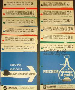 1966 Chrysler Plymouth Dodge MTSC 12 Volume Set Charger Barracuda Satellite