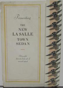 1929 New LaSalle Town Sedan By Cadillac Sales Folder Original