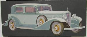 1932 1933 LaSalle Town Sedan by Cadillac Color Sales Card Original