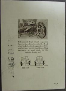 1934 Cadillac LaSalle New Standard of Riding Comfort Sales Brochure Original