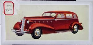 1934 Cadillac LaSalle Five Passenger Sedan Dealer Sales Folder Original