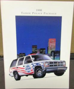 1998 Chevrolet Tahoe Police Package Dealer Sales Brochure Fleet Original