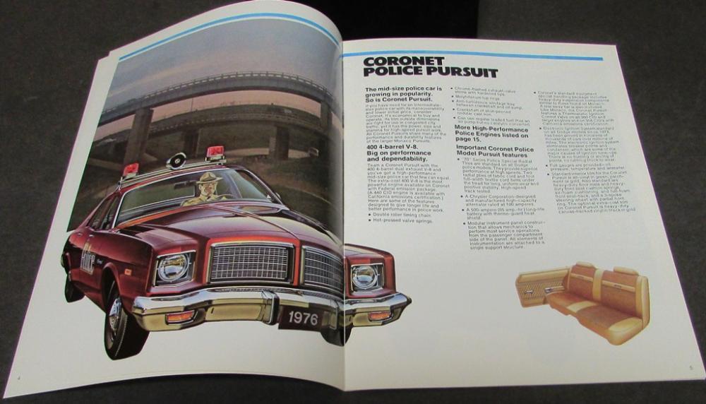 Dodge Dart 76 >> Original 1976 Dodge Dealer Sales Brochure Police Pursuit Coronet Dart Monaco