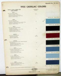 1955 Cadillac Paint Chips Original