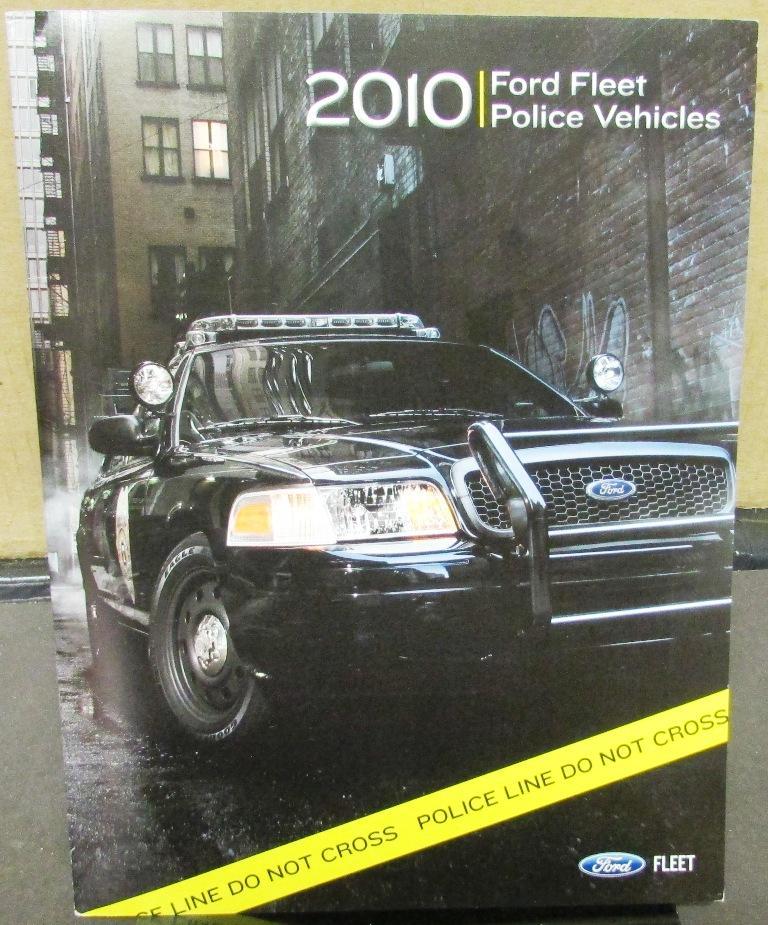 2010 Ford Dealer Sales Brochure Fleet Police Vehicle Package Crown Vic Truck Van