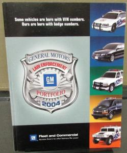 2004 GM Law Enforcement Portfolio Dealer Sales Brochure Police Fleet Packages