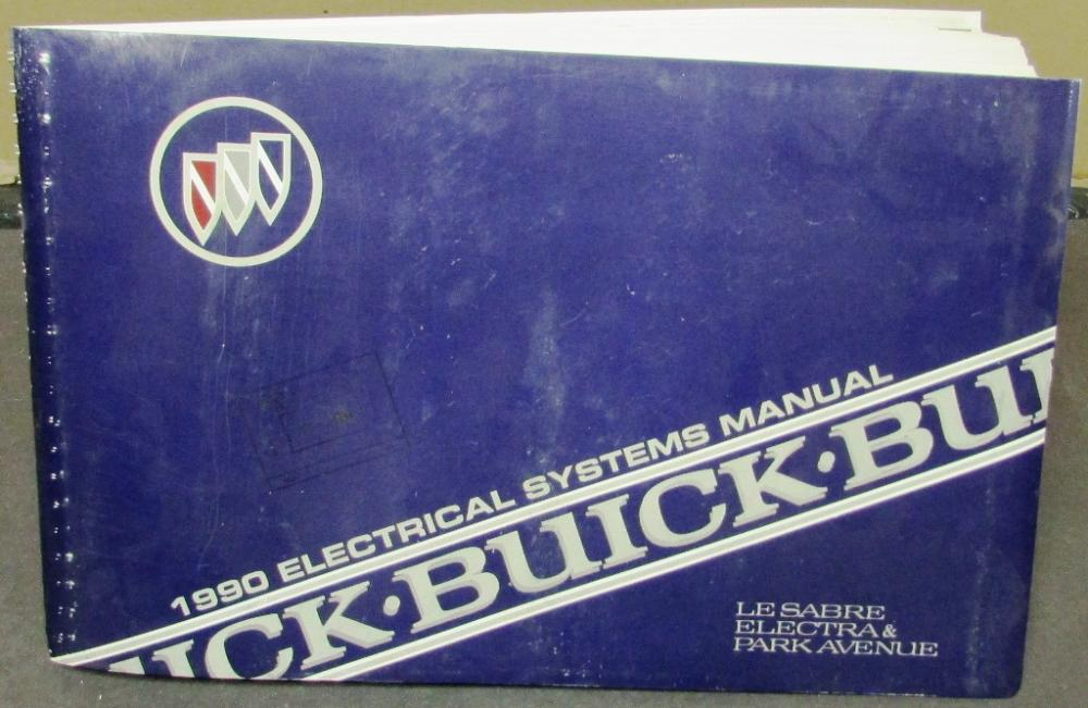 1990 buick dealer electrical wiring diagram service manual lesabre