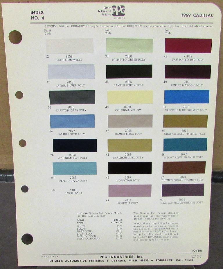 Cadillac Paint Colors