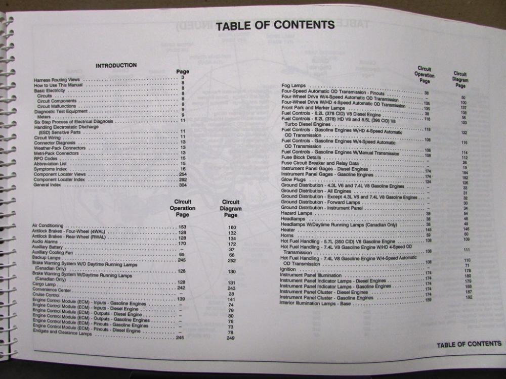 1993 Gmc Electrical Wiring Diagram Service Manual Sierra Yukon Suburban 3500 Hd
