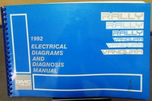 1992 GMC Electrical Wiring Diagram Service Manual Rally
