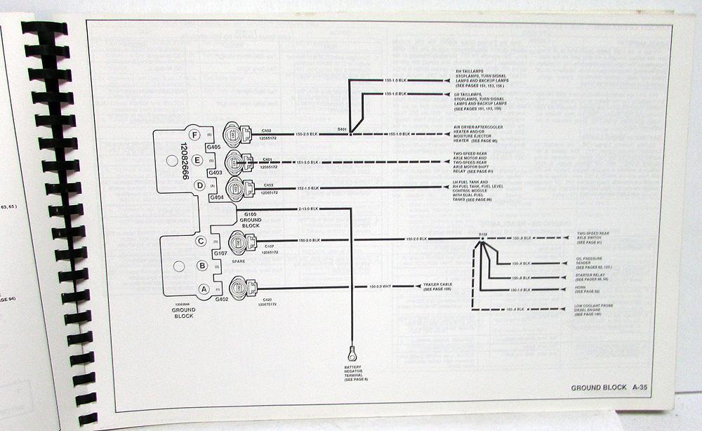 1991 gmc electrical wiring diagram service manual top kick kodiak medium  duty