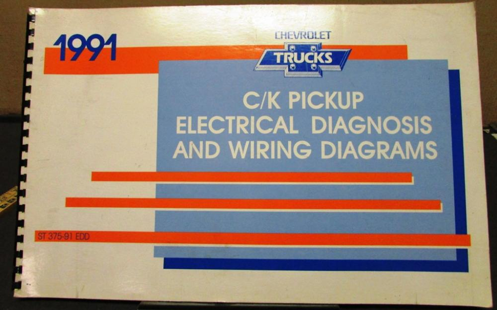 1991 Chevrolet Electrical Wiring Diagram Service Manual C
