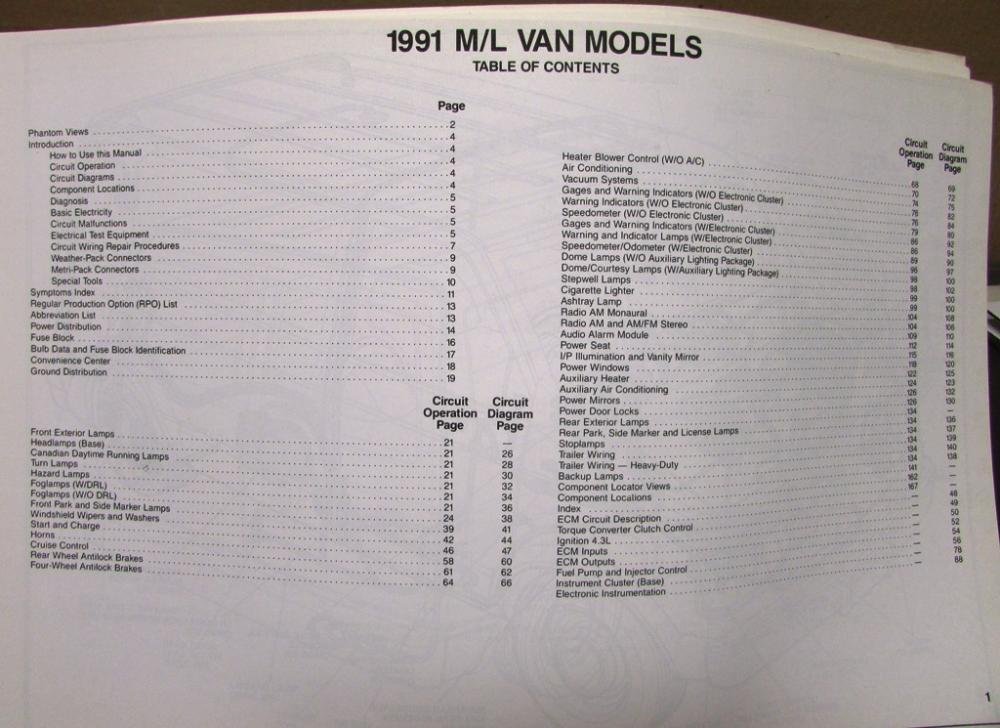 Chevrolet Electrical Wiring Diagram Service Manual Astro Van Models Rhautopaper: 1991 Astro Van Wiring Diagram At Elf-jo.com