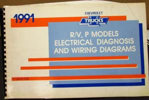 1991 Chevrolet Electrical Wiring Diagram Service Manual R/V P Models Repair