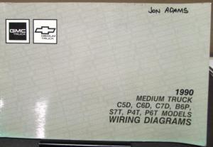 1990 Gmc Electrical Wiring Diagram Service Manual Top Kick Kodiak Medium Truck