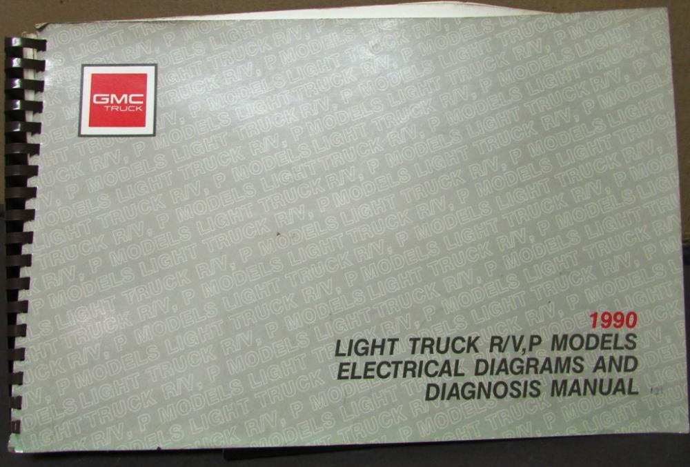1990 gmc electrical wiring diagram service manual light truck r v p1990 gmc electrical wiring diagram service manual light truck r v p models