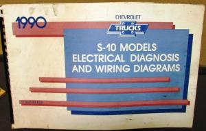 1990 Chevrolet Electrical Wiring Diagram Service Manual S-10 Models