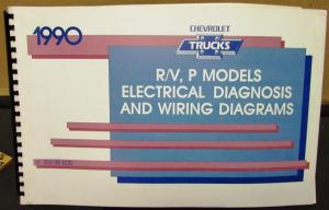 1990 Chevrolet Electrical Wiring Diagram Service Manual R/V P Model 2 4WD