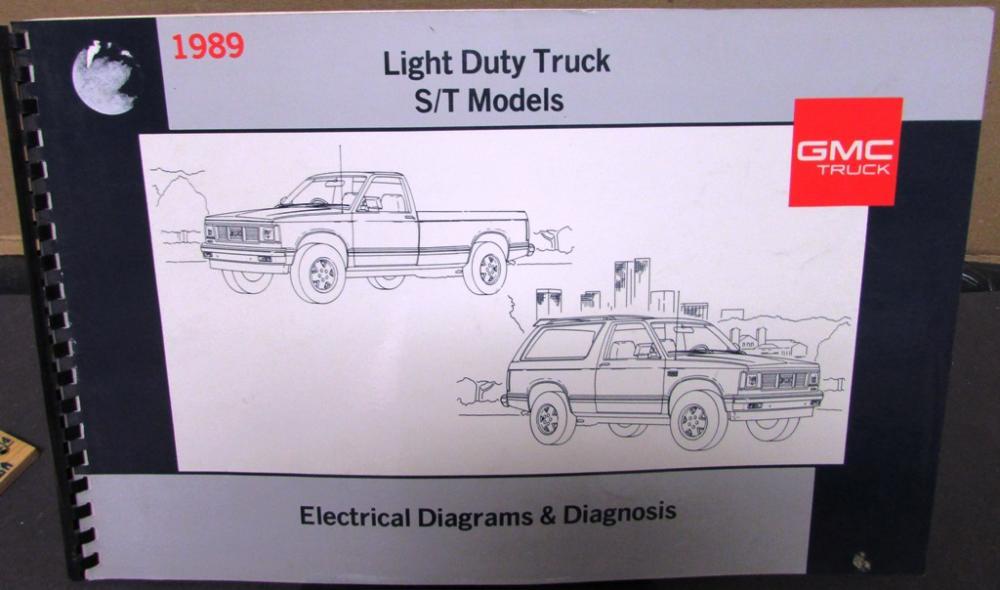 1989 gmc electrical wiring diagram service manual light duty s t truck rh autopaper com