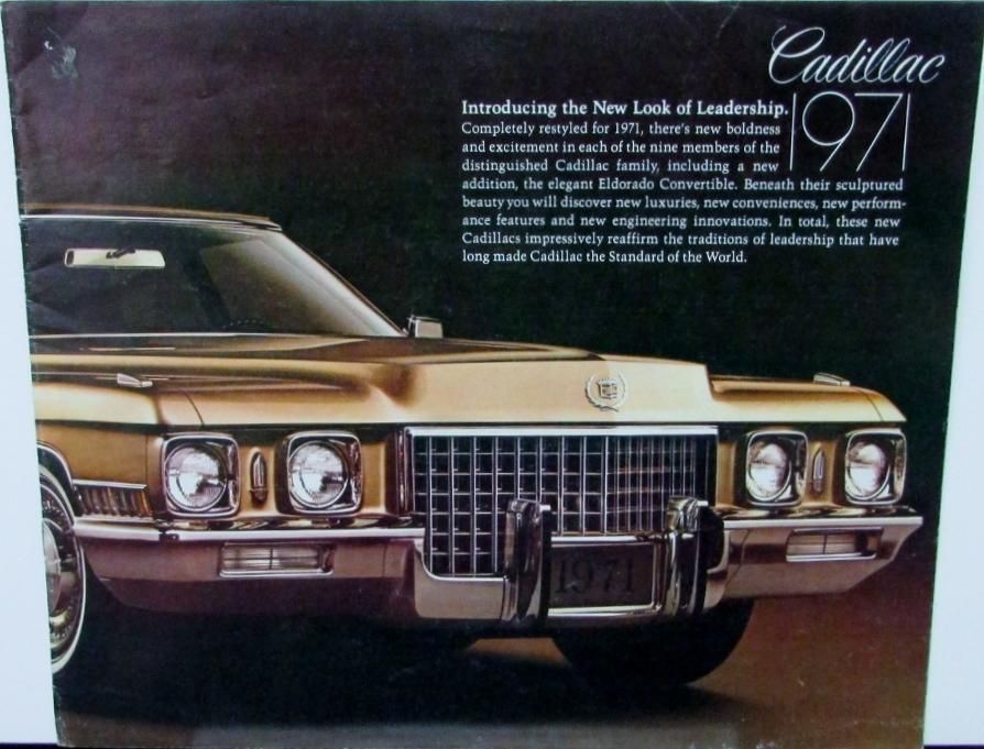 1971 Cadillac Fleetwood Deville Eldorado Calais Color ...