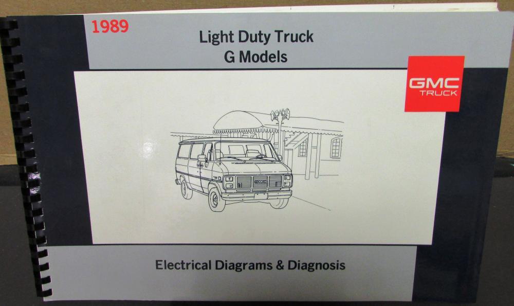 1989 GMC Electrical Wiring Diagram Dealer Service Manual Light Duty ...