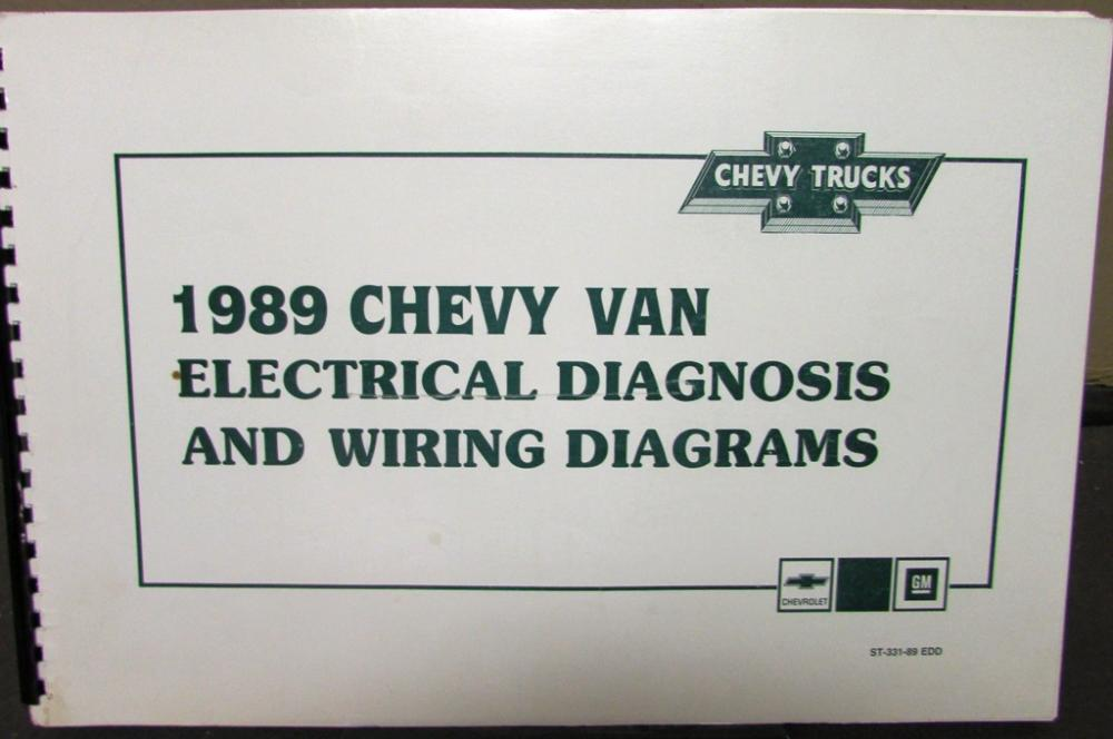 1989 chevrolet electrical wiring diagram dealer service manual chevy van  model