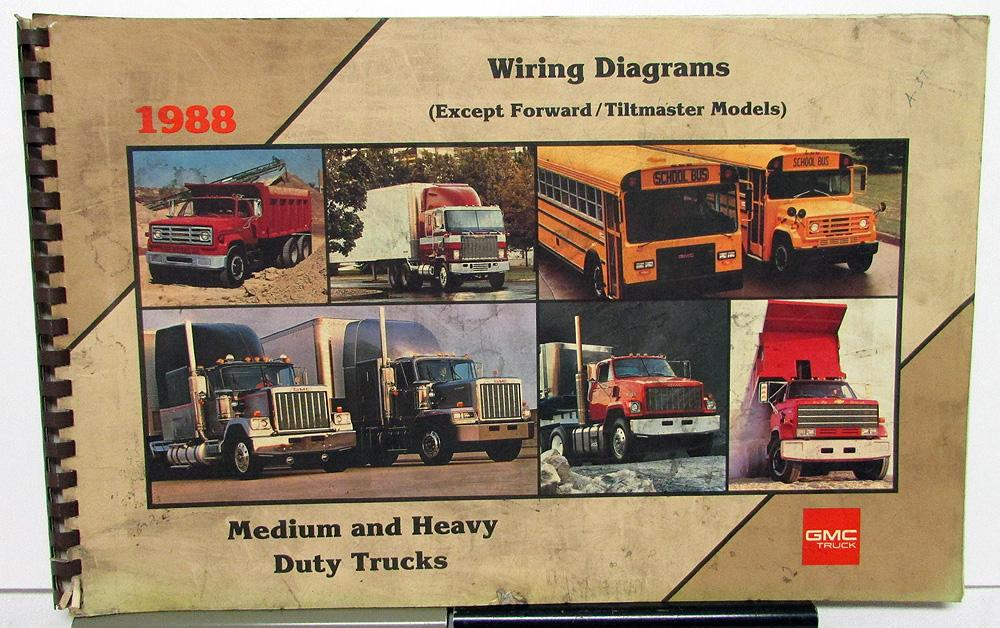 1988 GMC Electrical Wiring Diagram Dealer Service Manual ...  Gmc Truck Wiring Diagram on