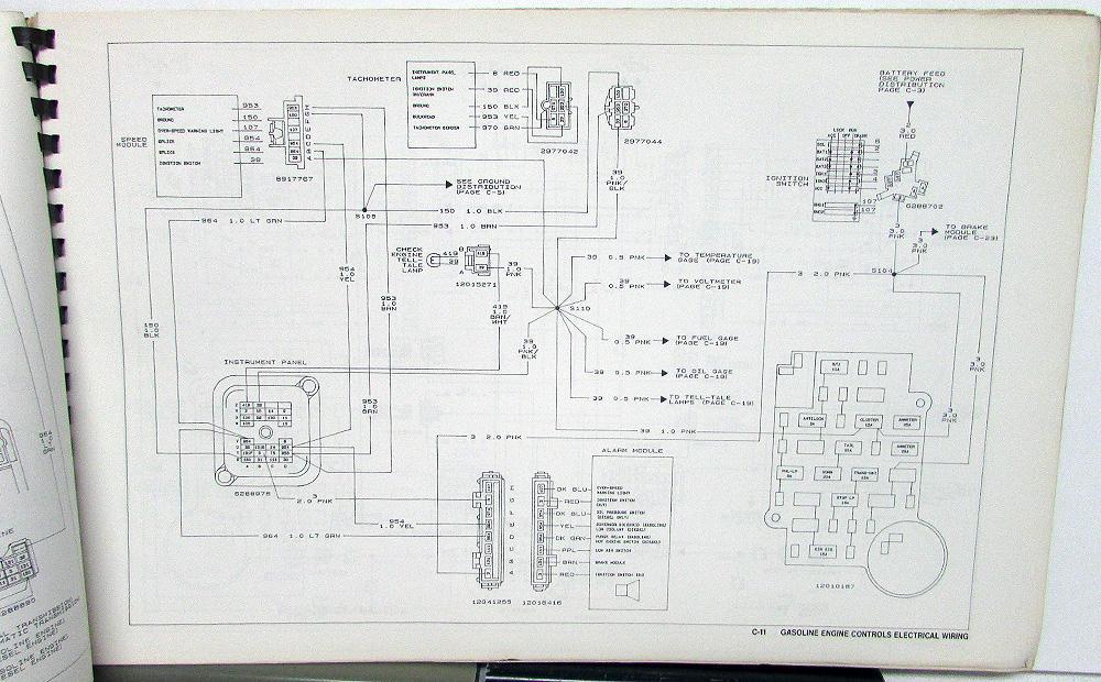 1988 Gmc Electrical Wiring Diagram Dealer Service Manual Medium Hd Trucks