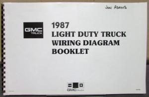 96 gmc truck electrical wiring diagrams 1987 gmc electrical wiring diagram dealer service light duty truck