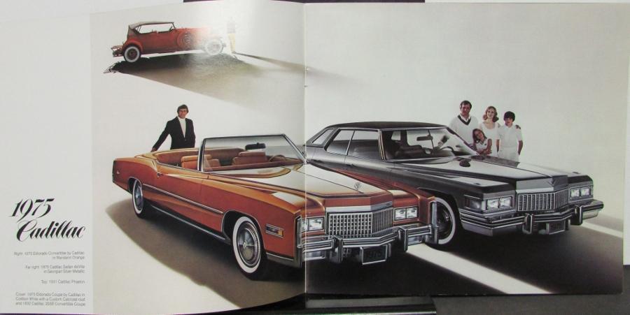 1975 Cadillac Sales Brochure Eldorado DeVille Fleetwood