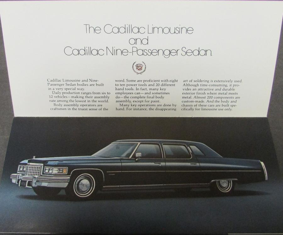 1976 Cadillac Limousine Amp 9 Passenger Sedan Original Color