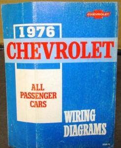 1976 Chevrolet Electrical Wiring Diagram Dealer Manual All Passenger Cars