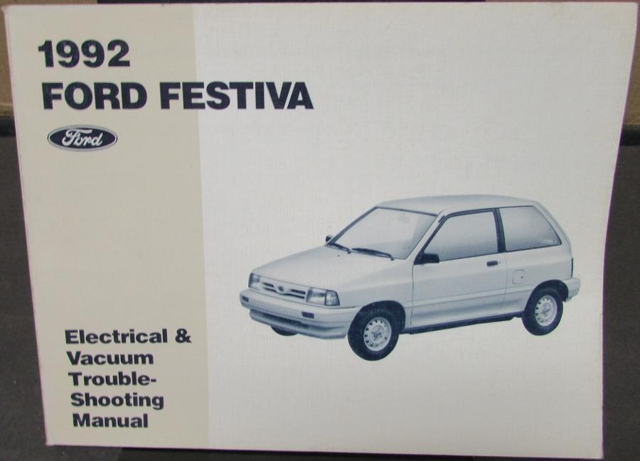 1992 ford festiva electrical vacuum trouble shooting shop service rh autopaper com ford festiva manual transmission ford festiva manual transmission