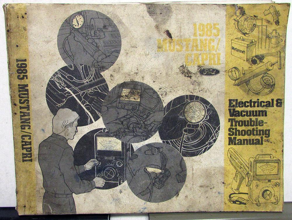 1985 ford mercury dealer electrical & vacuum diagram manual mustang capri