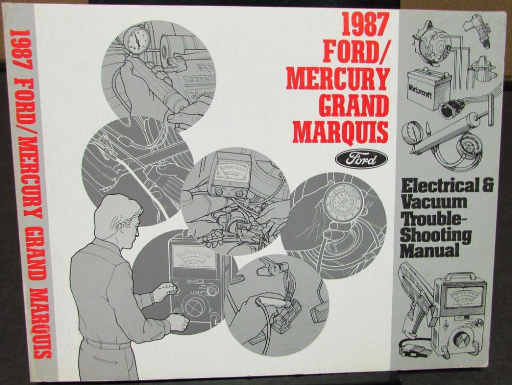 Pleasant 1987 Mercury Dealer Electrical Vacuum Diagram Service Manual Grand Wiring Digital Resources Dylitashwinbiharinl