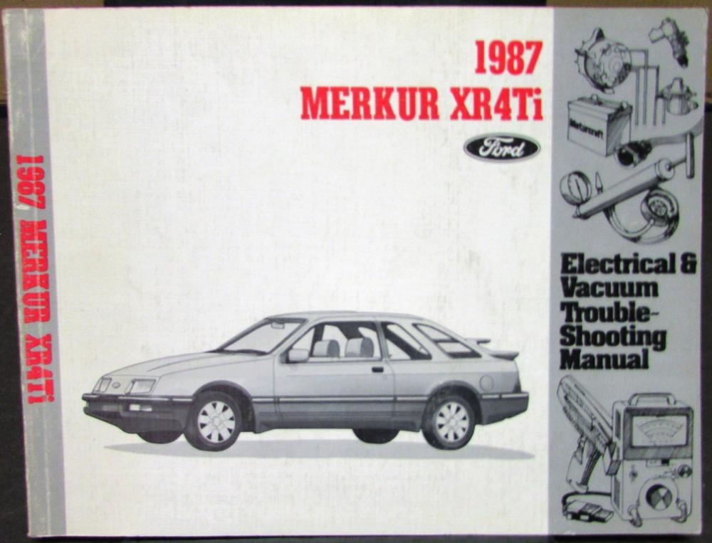 1987 ford dealer electrical \u0026 vacuum diagram service manual merkur xr4tiDetails About 1987 Merkur Xr4ti Wiring Diagrams Electrical Service #12