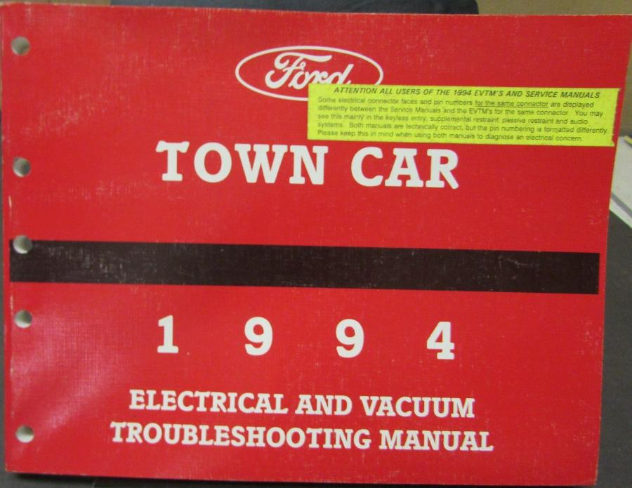 1994 lincoln town car electrical vacuum trouble shooting shop rh autopaper com