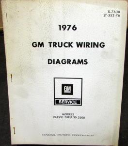 1976 gm dealer electrical wiring diagram service manual truck 10-1500 to  30-3500