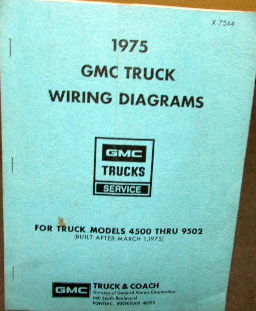 1975 gmc dealer electrical wiring diagram service manual