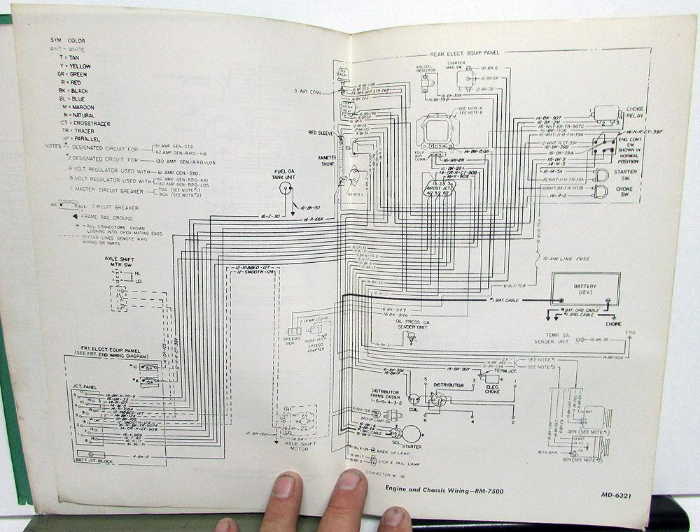 1972 Gmc Dealer Electrical Wiring Diagram Service Manual Truck Models