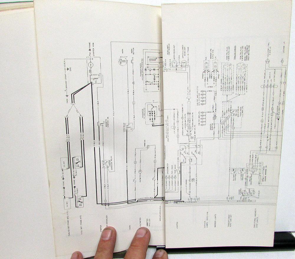 1972 Gmc Dealer Electrical Wiring Diagram Service Manual Truck Models