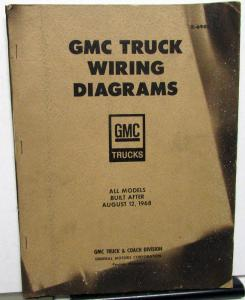 1969 gmc dealer electrical wiring diagram service manual all truck models
