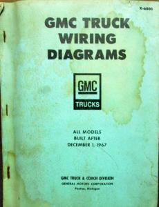 original 1968 gmc truck dealer accessories s brochure pickup 1968 gmc dealer electrical wiring diagram service manual all truck models