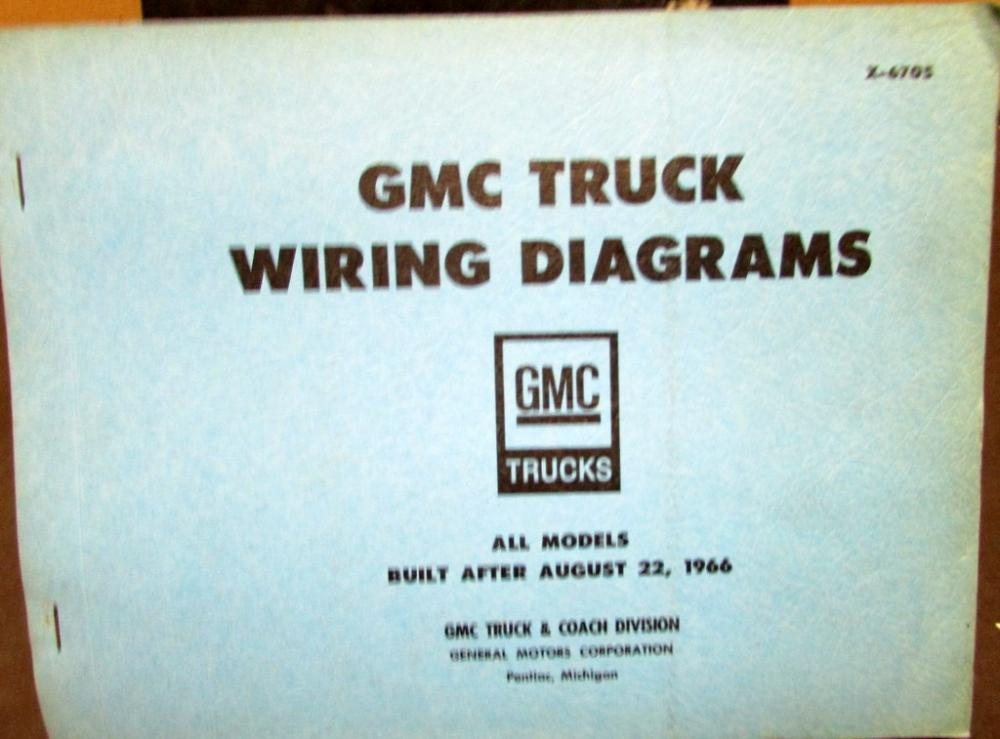 1967 Gmc Dealer Electrical Wiring Diagram Service Manual All Truck Rhautopaper: Gmc General Trucks Wiring Diagram At Gmaili.net